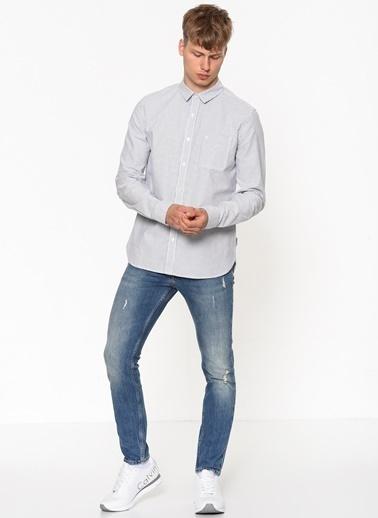 Calvin Klein Uzun Kollu Gömlek Mavi
